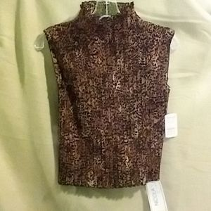 Nicola stretch leopard top